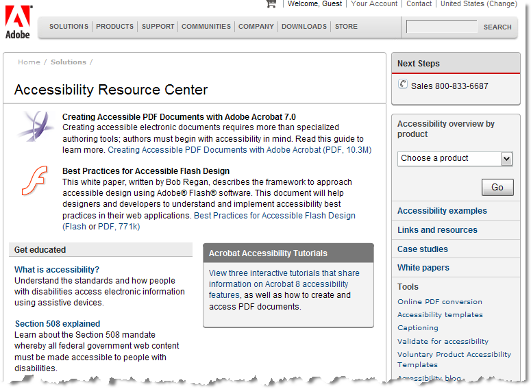 The Adobe Accessibility Resource Center